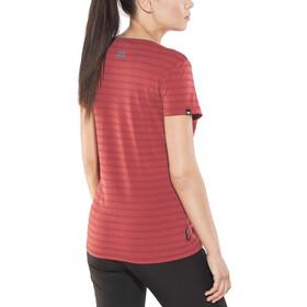 Mountain Equipment Groundup Camiseta Mujer, poppy stripe